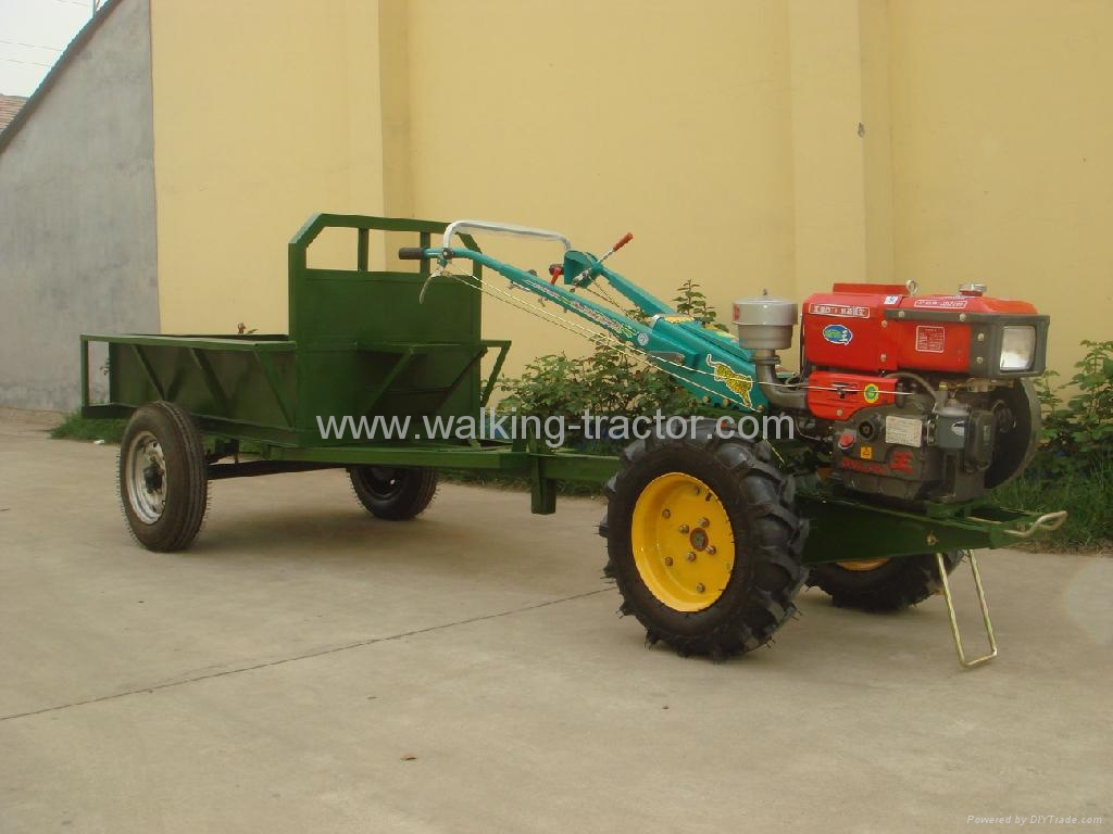 Farm Tractor 2 Wheel : Two wheel hand walking tractor with trailer china