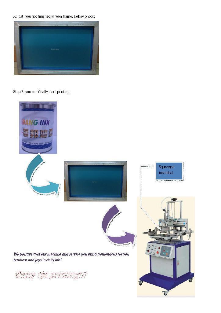 HS-S1 Manual cylinderical screen printer 5