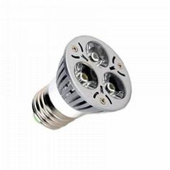 Dimmable E27 3*1W led spotlight