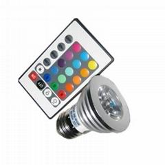 3W E27 RGB Dimmable LED Spotlight