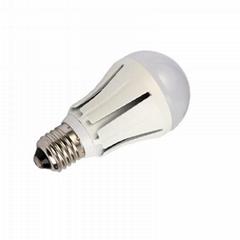 5W COB LED Bulb 500lm Epistar chip AC90-265V Aluminum housing