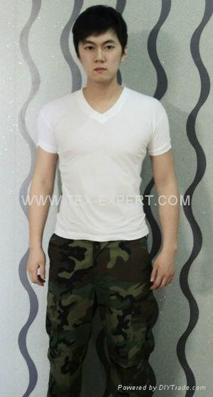 100% cotton white t-shirt 1