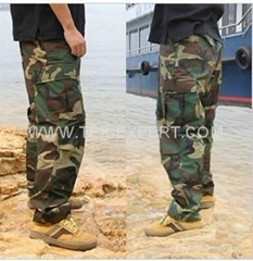 woodland military camouflage trouser