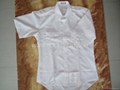 100% polyster white shirt