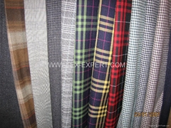 Wool Polyester Blend Check Fabric