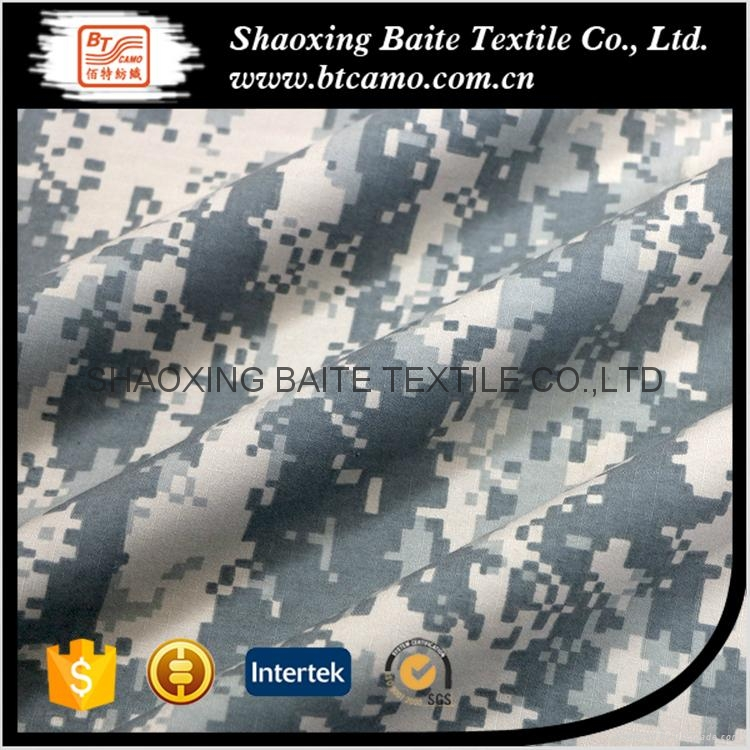 Digital printing grey camouflage fabric for mens clothing BT-074 3
