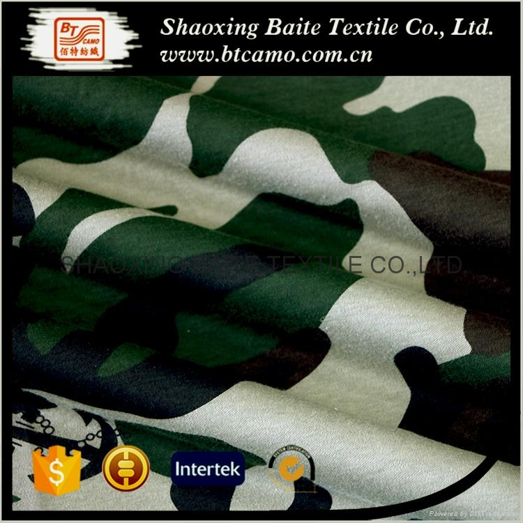 Promotion cheap knitted jersey camouflage fabric BT-014 3