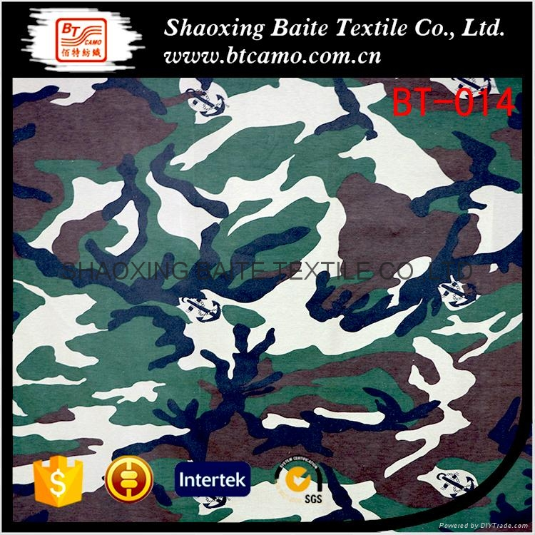 Promotion cheap knitted jersey camouflage fabric BT-014 1