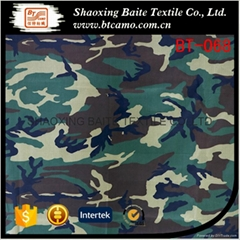 Woodland printing miltary camouflage fabric BT-068
