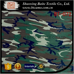 Wholesale sateen miltary camouflage fabric for mens winter uniform BT-072