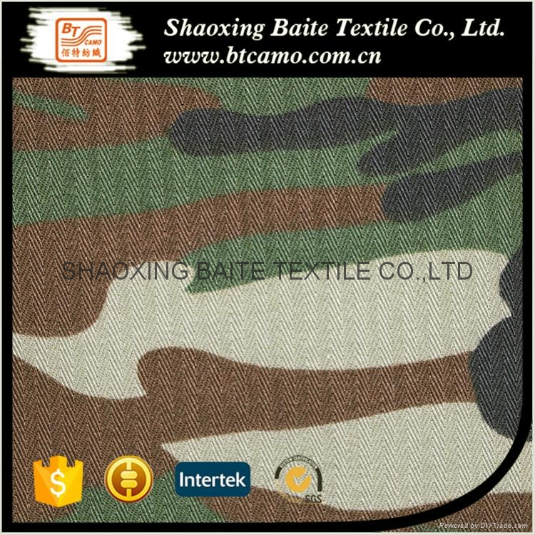 China manufacturer herringbone camouflage fabric for military uniform BT-088 1