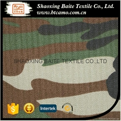 China manufacturer herringbone camouflage fabric for military uniform BT-088