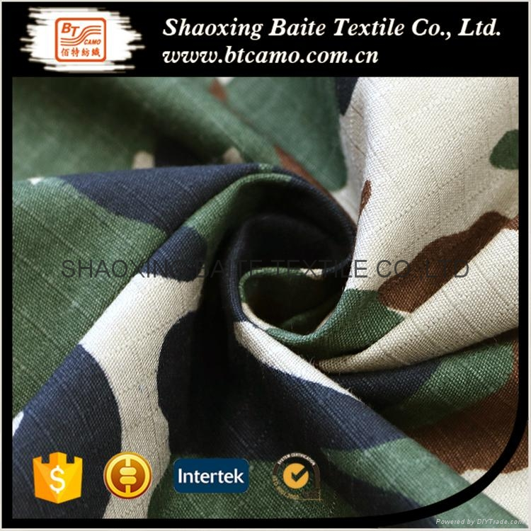Reliable quality cotton camouflage printing fabric BT-107 2
