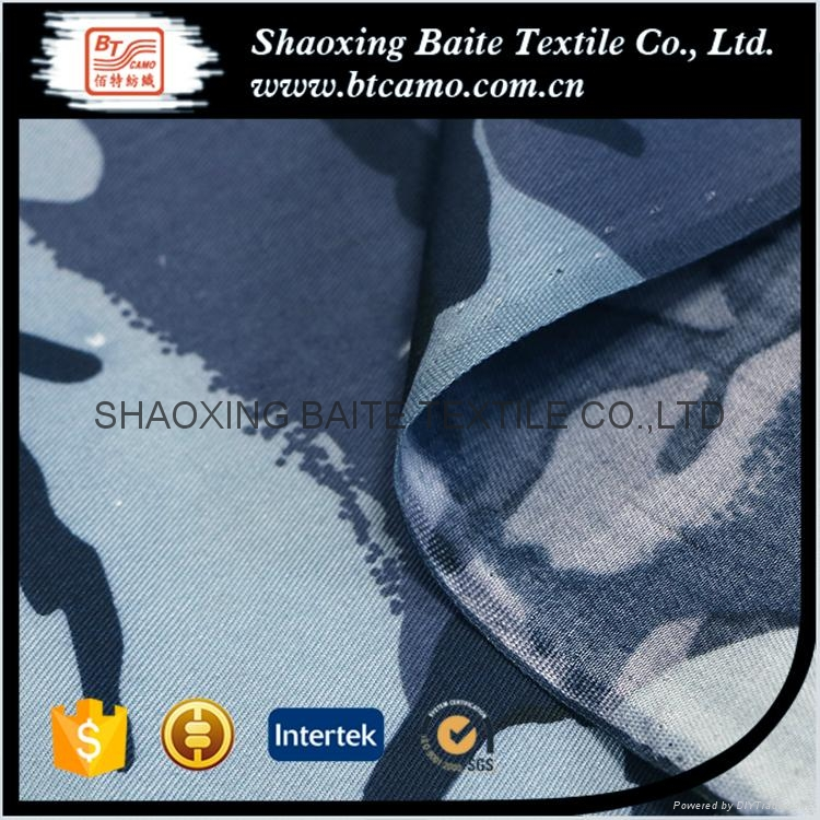 Polyester cotton printing camouflage fabric for navy military uniform BT-112 5