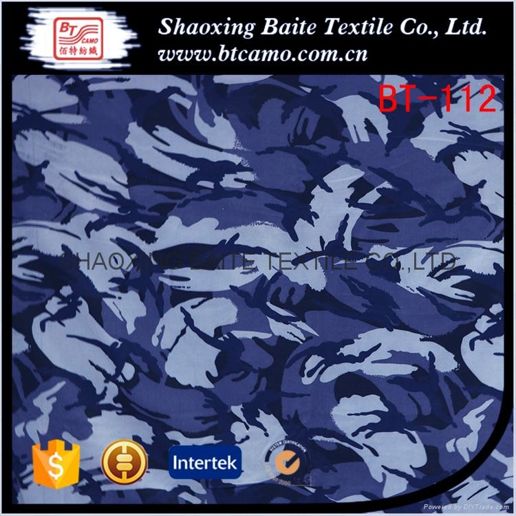 Polyester cotton printing camouflage fabric for navy military uniform BT-112 1
