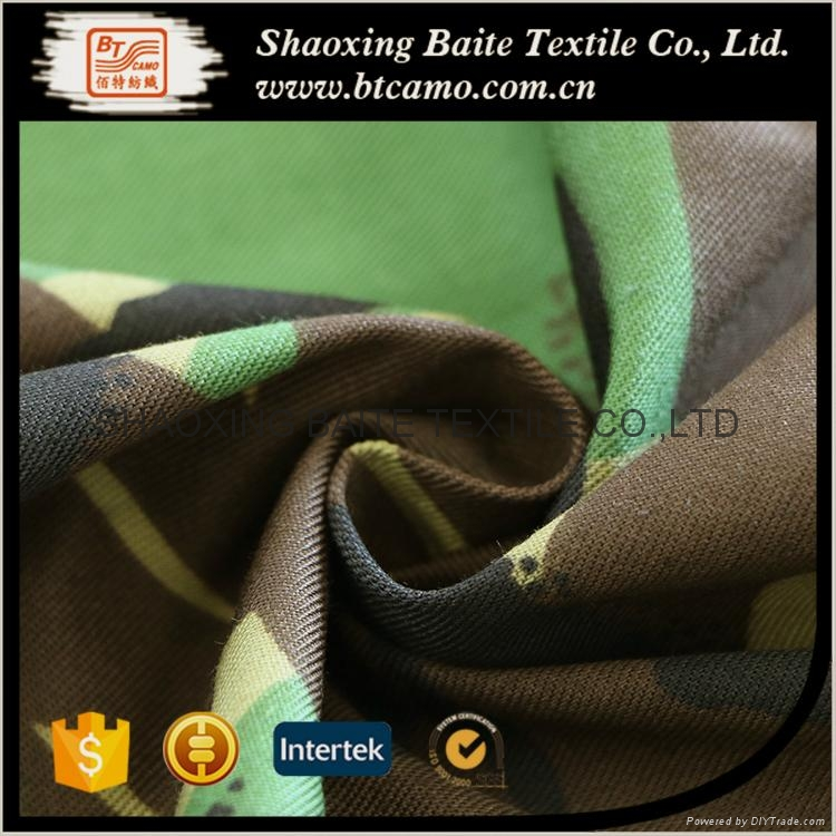 China woodland camouflage fabric for military uniform BT-138 2