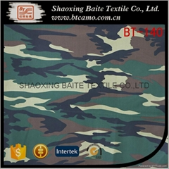 China factory pigment polyester cotton camouflage fabric BT-140