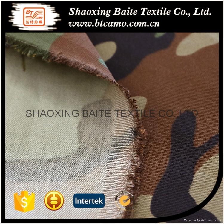 Waterproof Anti-infrared oil resitant printing camouflage fabric BT-152 5