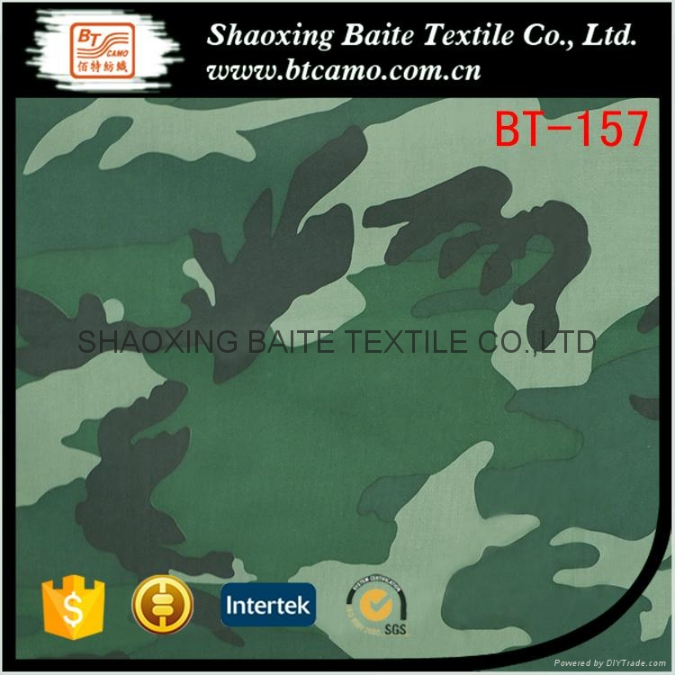 PVC Coated polyester camouflage fabric for garments BT-157 1