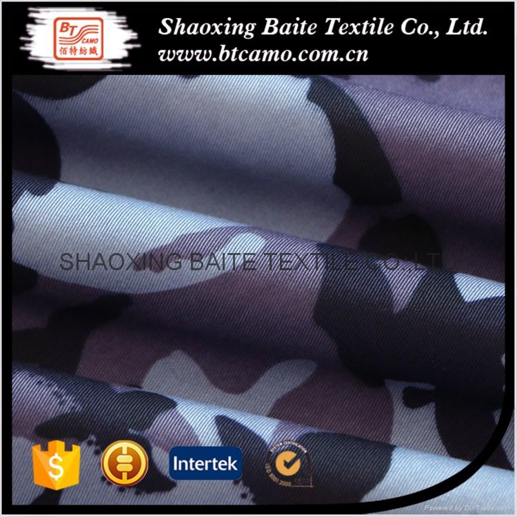 China supplier polyester cotton camouflage fabric for military uniform BT-168 3