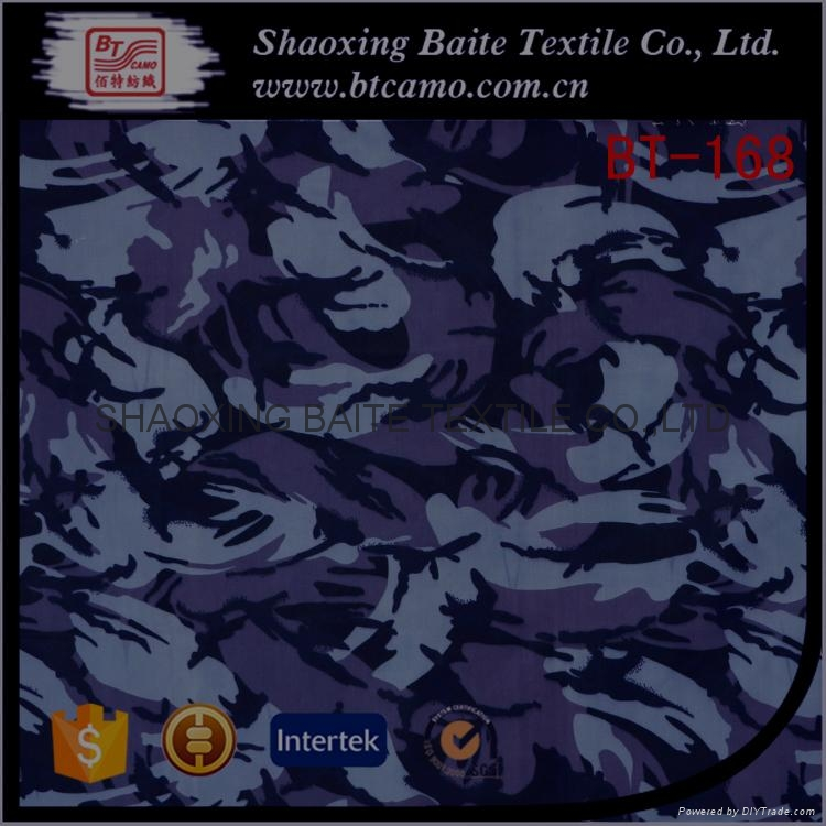 China supplier polyester cotton camouflage fabric for military uniform BT-168 1