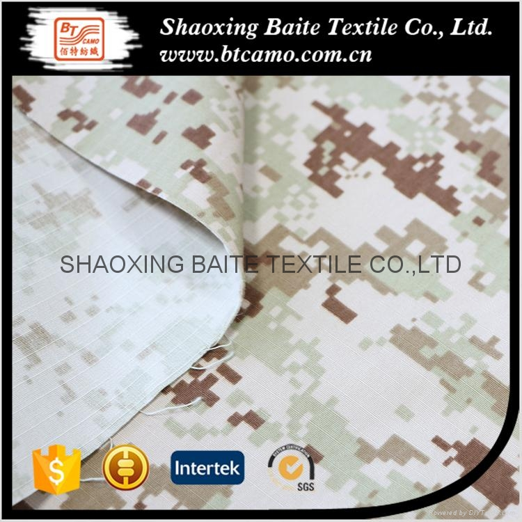 China supplier cotton nylon printing camouflage fabric BT-202 5