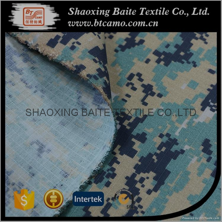China product polyester cotton camouflage fabric for military uniform BT-243 4
