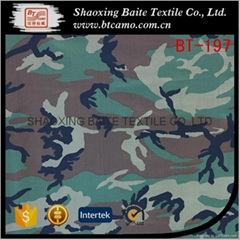 Nylon cotton printing camouflage fabric for military uniforms BT-197