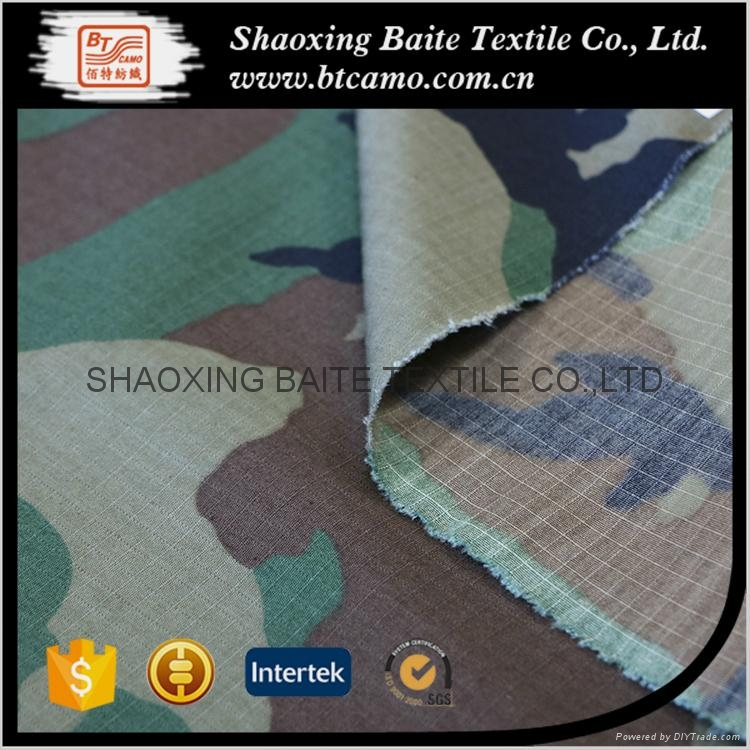 Nylon cotton printing camouflage fabric for military uniforms BT-197 4