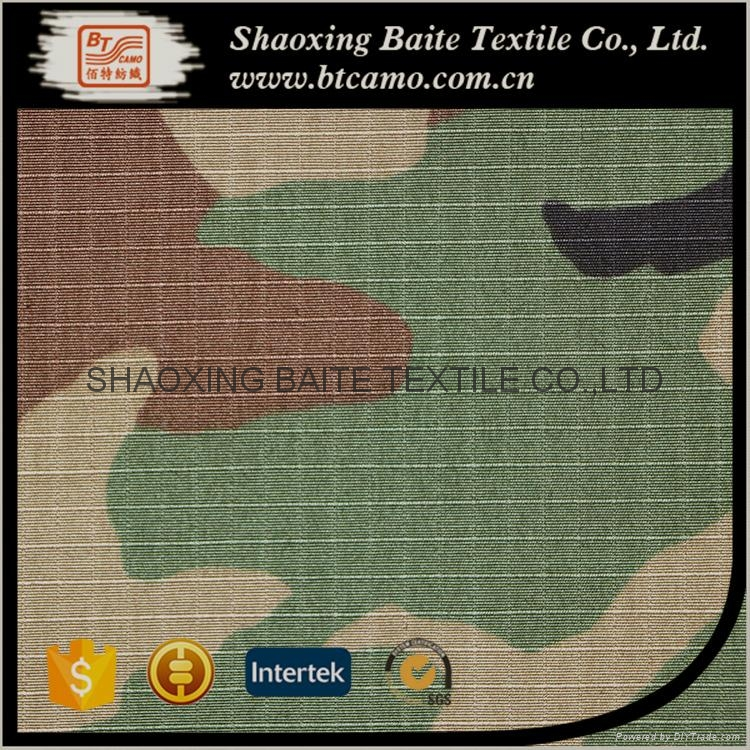 Nylon cotton printing camouflage fabric for military uniforms BT-197 5
