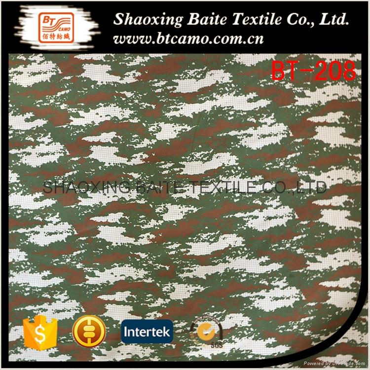 China supplier pigment camouflage fabric for military uniform BT-208 1