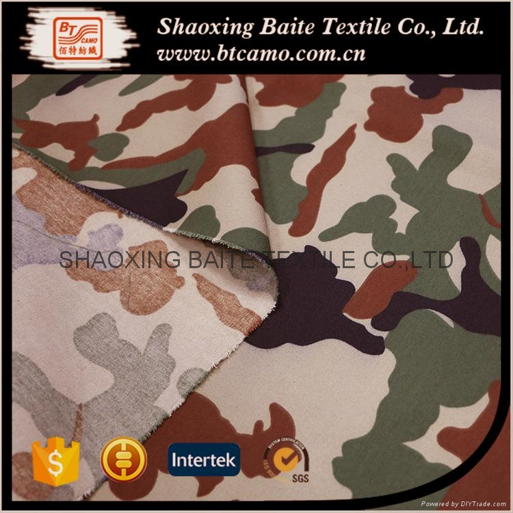 Woodland printing camouflage fabric for military uniform BT-257 5