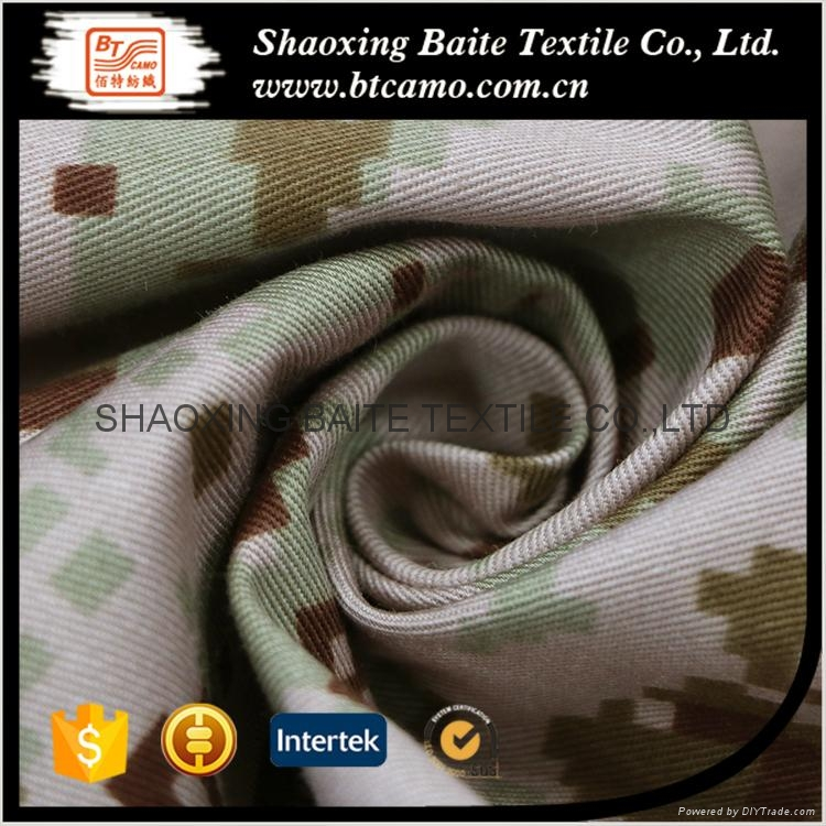 China supplier polyester cotton camouflage fabric for military uniform BT-252 2