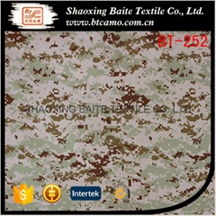 China supplier polyester cotton camouflage fabric for military uniform BT-252