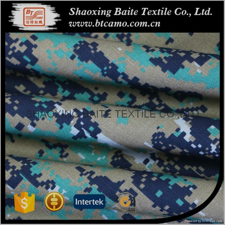 China supplier cotton nylon printing camouflage fabric BT-263 3