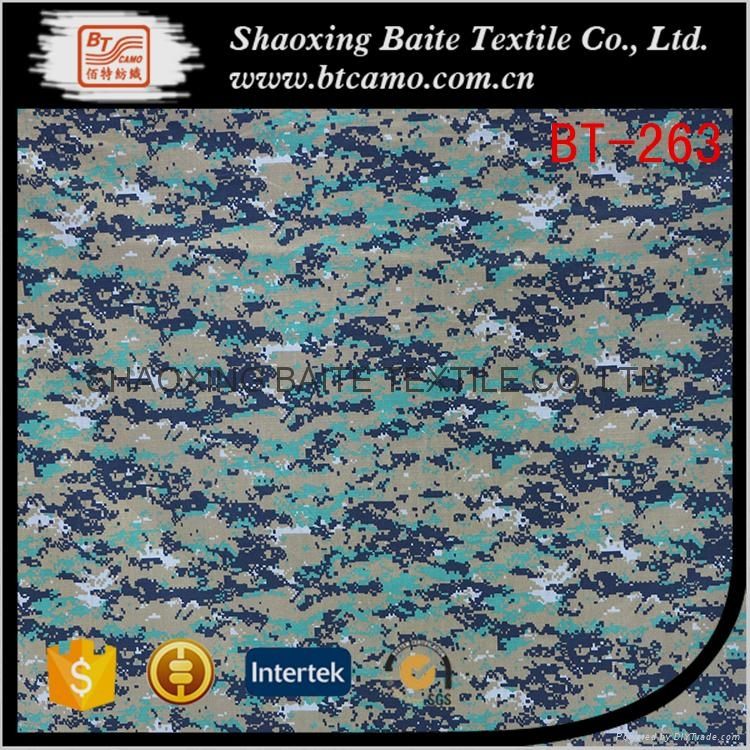 China supplier cotton nylon printing camouflage fabric BT-263 1