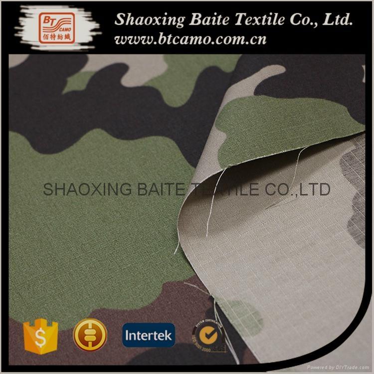 OEM Wholesale woodland camouflage fabric for military uniform BT-273 4