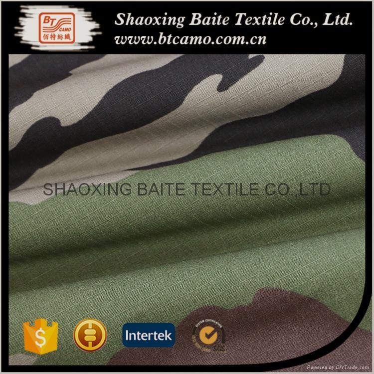 OEM Wholesale woodland camouflage fabric for military uniform BT-273 3