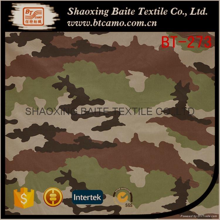 OEM Wholesale woodland camouflage fabric for military uniform BT-273 1