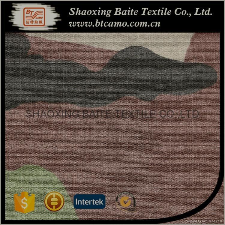 OEM Wholesale woodland camouflage fabric for military uniform BT-273 5