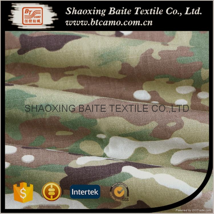 Multicam ripstop printing CP camouflage fabric for military uniforms BT-276 3