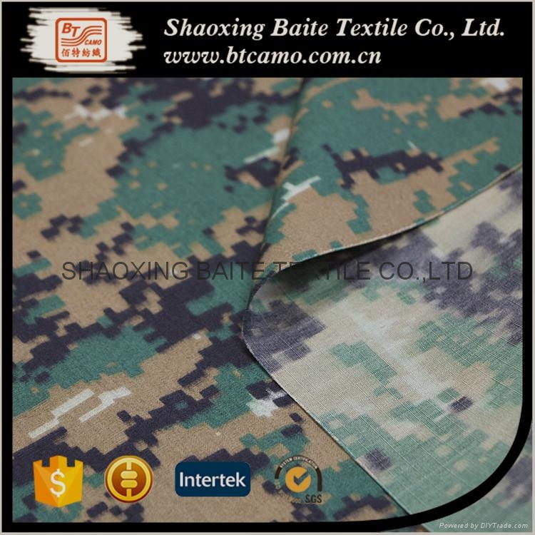 China supplier cotton nylon printing camouflage fabric BT-281 4