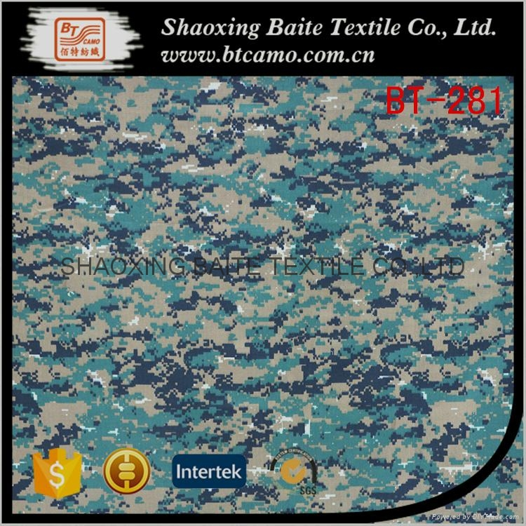 China supplier cotton nylon printing camouflage fabric BT-281 1