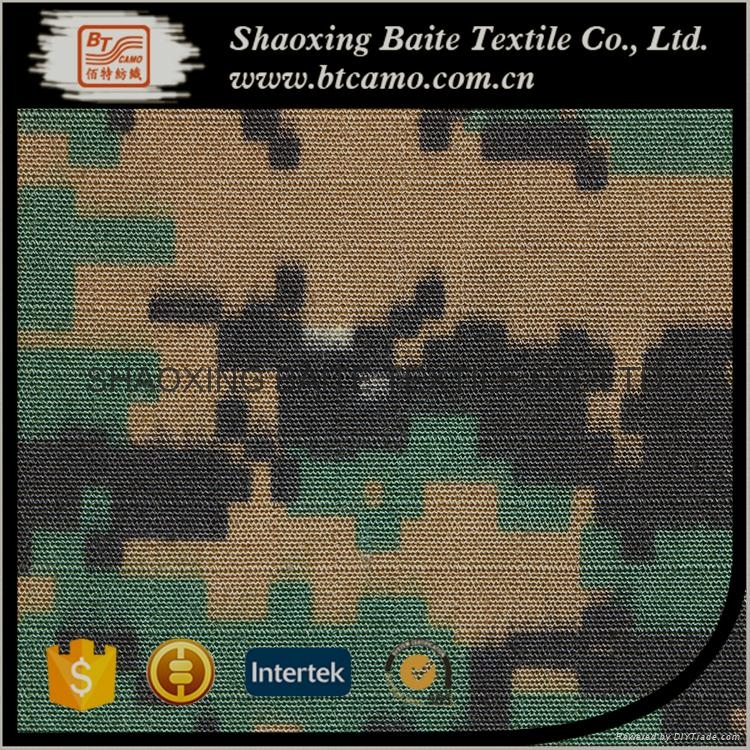 China supplier cotton nylon printing camouflage fabric BT-281 5