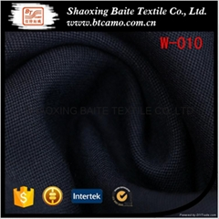 Yarn dyed wool polyester fabric for suit men W-010