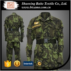Customized BDU woodland military camouflage uniform