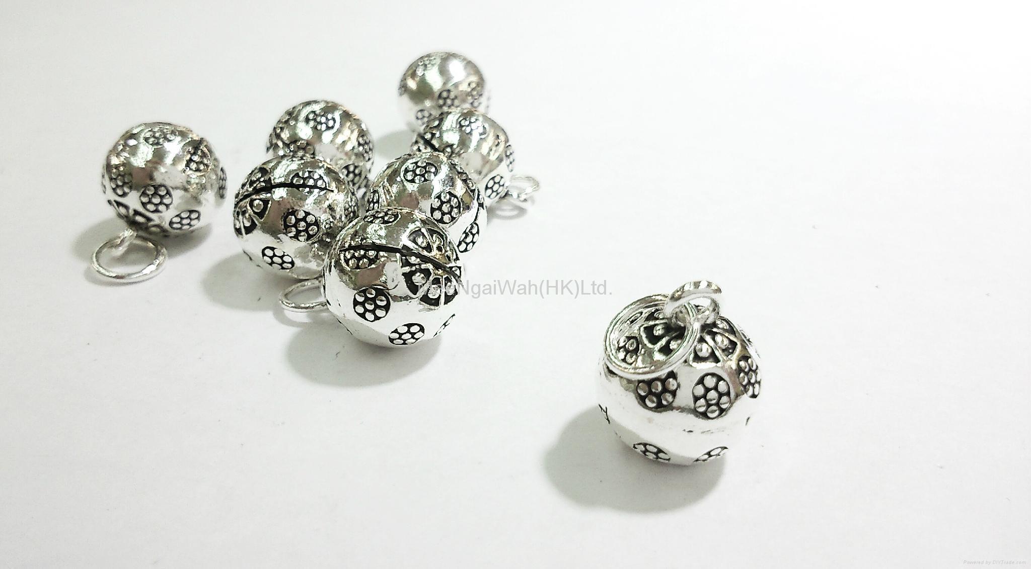 编穿银珠戒指图解365种