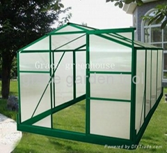 self assembly aluminium greenhouse