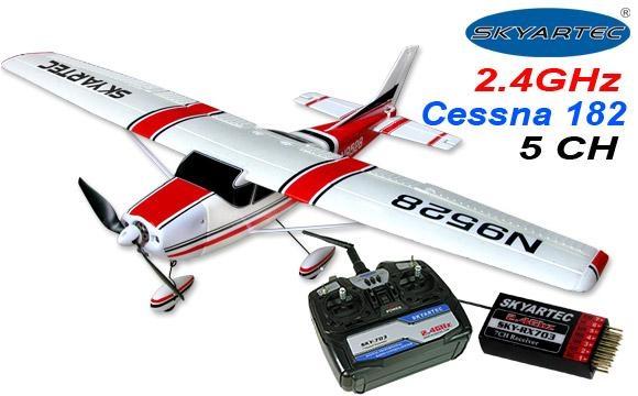 5 CH Cessna 182 RC Airplane RTF w/ Brushless Motor + ESC + Li-Po 1