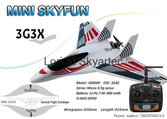 MODEL airplane MINI SKYFUN RTF Basic with 3G3X and parts from SKYARTEC RC 1